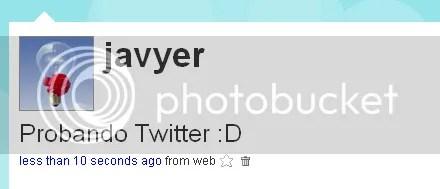 Probando Twitter