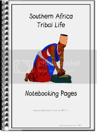 Southern African Tribal Life Notebooking Pages Cover