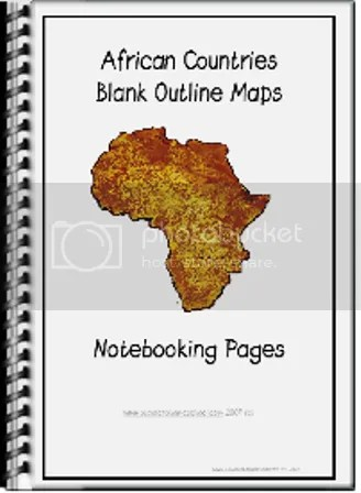 Africa Blank  Countries Outline Maps