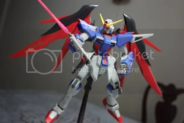 Sorry. I really didnt know how to pose him with these beam sabers xD