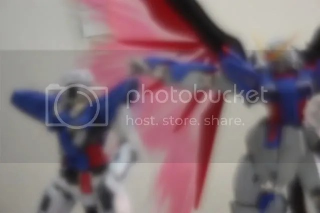 Destiny quickly appears next to Exia