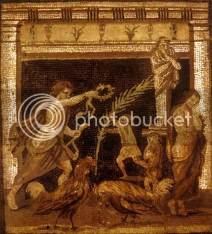 luta de galos.Pompeia.Museu de Nápoles