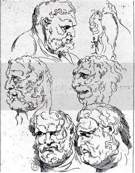 Rubens, Homens leoninos, c.1605-1608+ Masson, segundo desenho de Rubens, Le Monde, 1981
