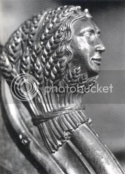 espírito do trigo:apoia-mãos de cadeiral da catedral de Saint-Pierre, Saint Claude, séc. XV