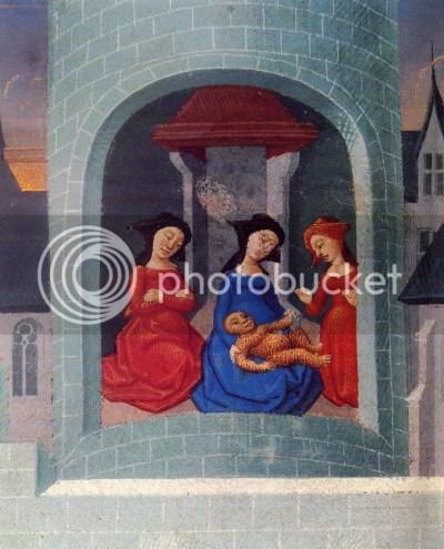 L'Ystoire de Merlin, manuscrito séc. XV, folio 63 v.º: Merlin quando nasceu era peludo como um urso. BNF