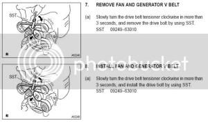 DIY: replacing 2azfe serpentine belt  Toyota Nation