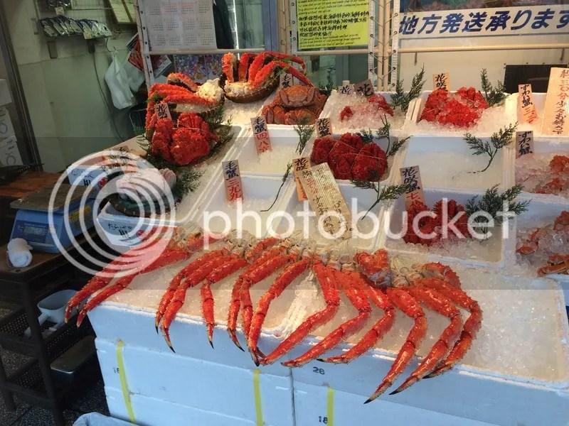 Nijo market crab sapporo hokkaido