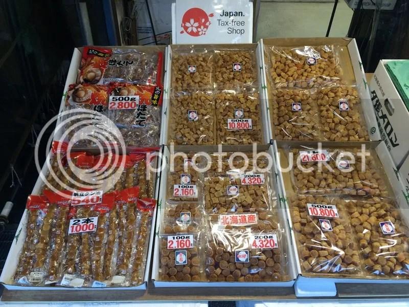 Nijo market scallops sapporo