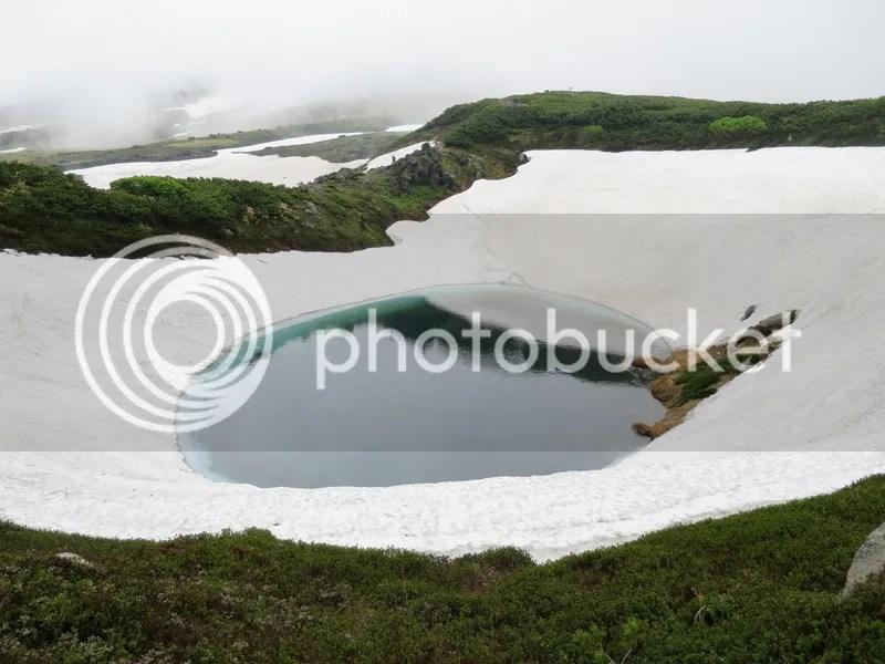 Asahidake snow lake