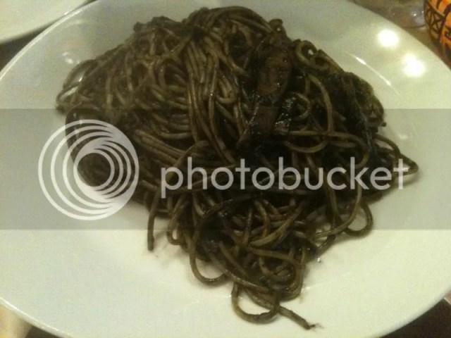 Squid ink pasta! photo 413957_10151018550121209_1327913907_o.jpg