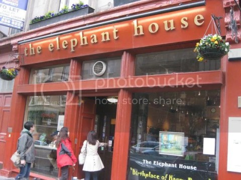This is the cafe where JK Rowling sat in where she wrote Harry Potter~