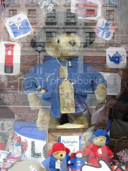 Paddington Bear! If I had enough money in my wallet, or that if London was my last stop, it would have been lying on bed right now beside my rilakkuma.. photo 598405_10151073344221209_1497019063_n.jpg