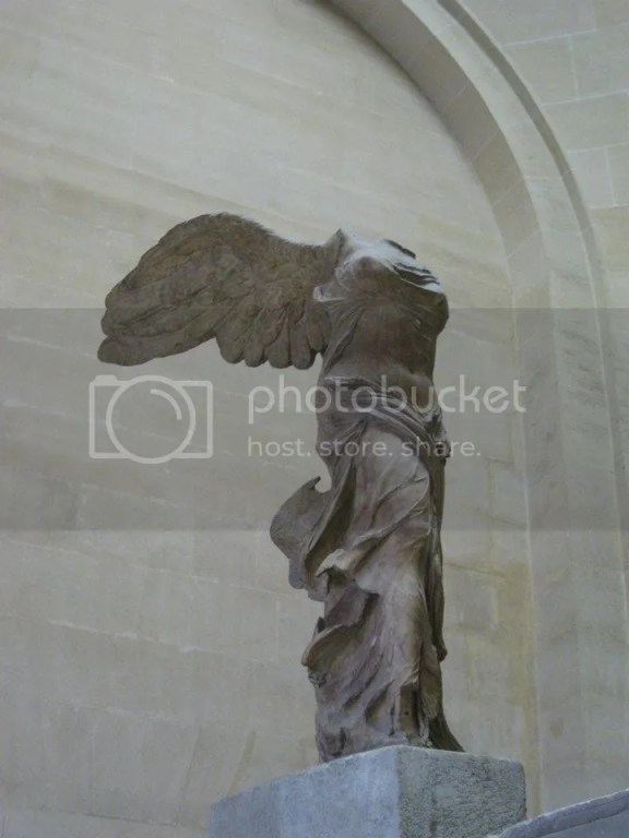 Winged Victory of Samothrace aka also called the Nike of Samothrace. FYI: Nike = Victory! photo 197741_10151088160546209_1011393740_n.jpg