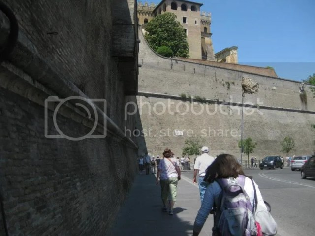 Walking into the Vatican Museum via the exterior. photo 486410_10151099486546209_101613515_n.jpg