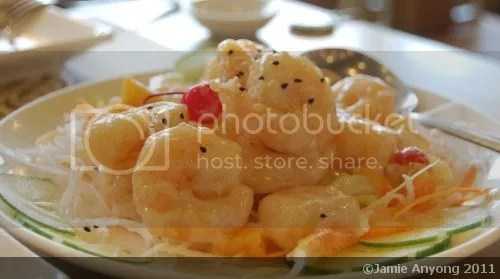HK Choi_hot prawn salad