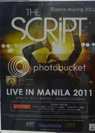 The Script concert poster