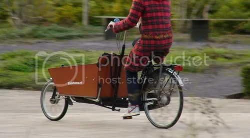 Bakfiets in Amsterdam