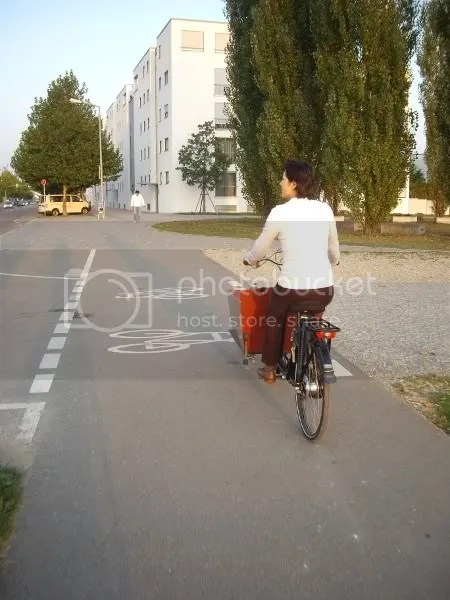 Pictoral evidence of a cycle lane in Ostfildern
