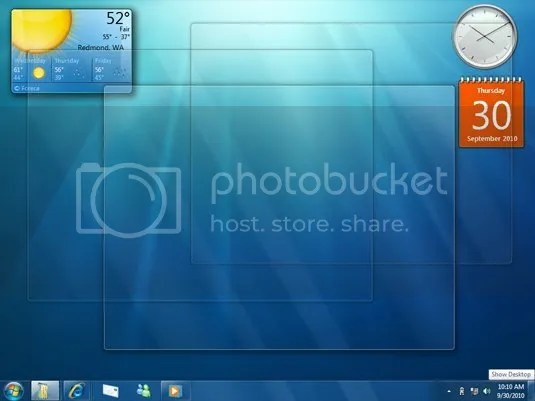 Fitur Peek di Windows 7