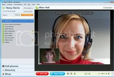 Screenshot Skype 4.0 beta