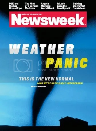 Newsweek Weather Panic cover
