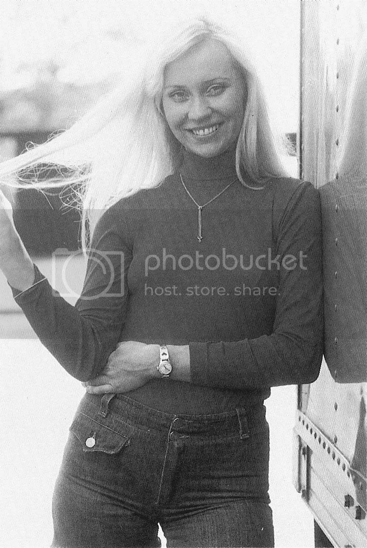 Agnetha black and white jeans