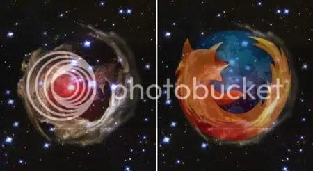 Firefox logo si stelele