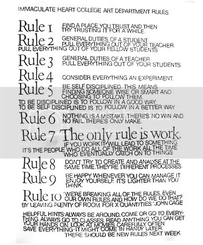 art department rules