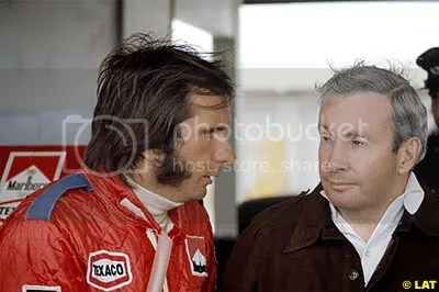 Teddy Mayer with Emerson Fittipaldi