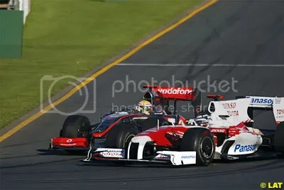 Hamilton and Trulli fought it out