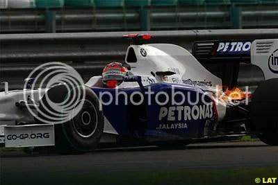 Kubica's engine blow