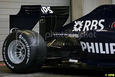 High rear wing on Williams FW31