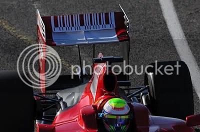 High rear wing on Ferrari F60