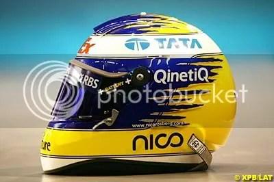 Nico Rosberg's Helmet