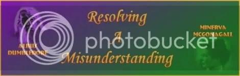 Resolving a Misunderstanding