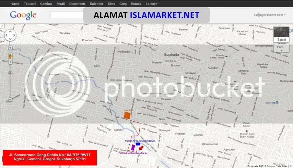 Peta ISLAMARKET.NET sebelum dizoom