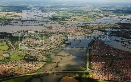 Aerial view of Tewkesbury
