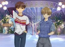 Yes, this game has two main characters. Yes, it's a bit unnatural for a visual novel.