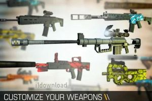 Customize Weapons on Bullet Force Android Game