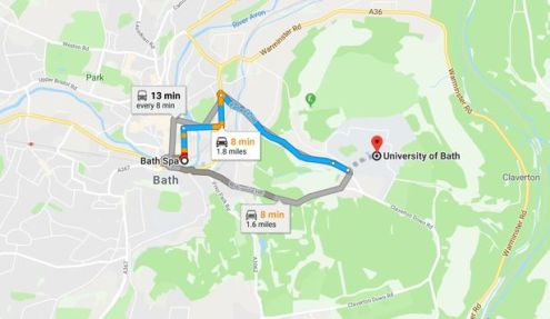 How does Google Maps figure out how long your journey is going to     Google Map s directing us from Bath Spa station to the University of Bath