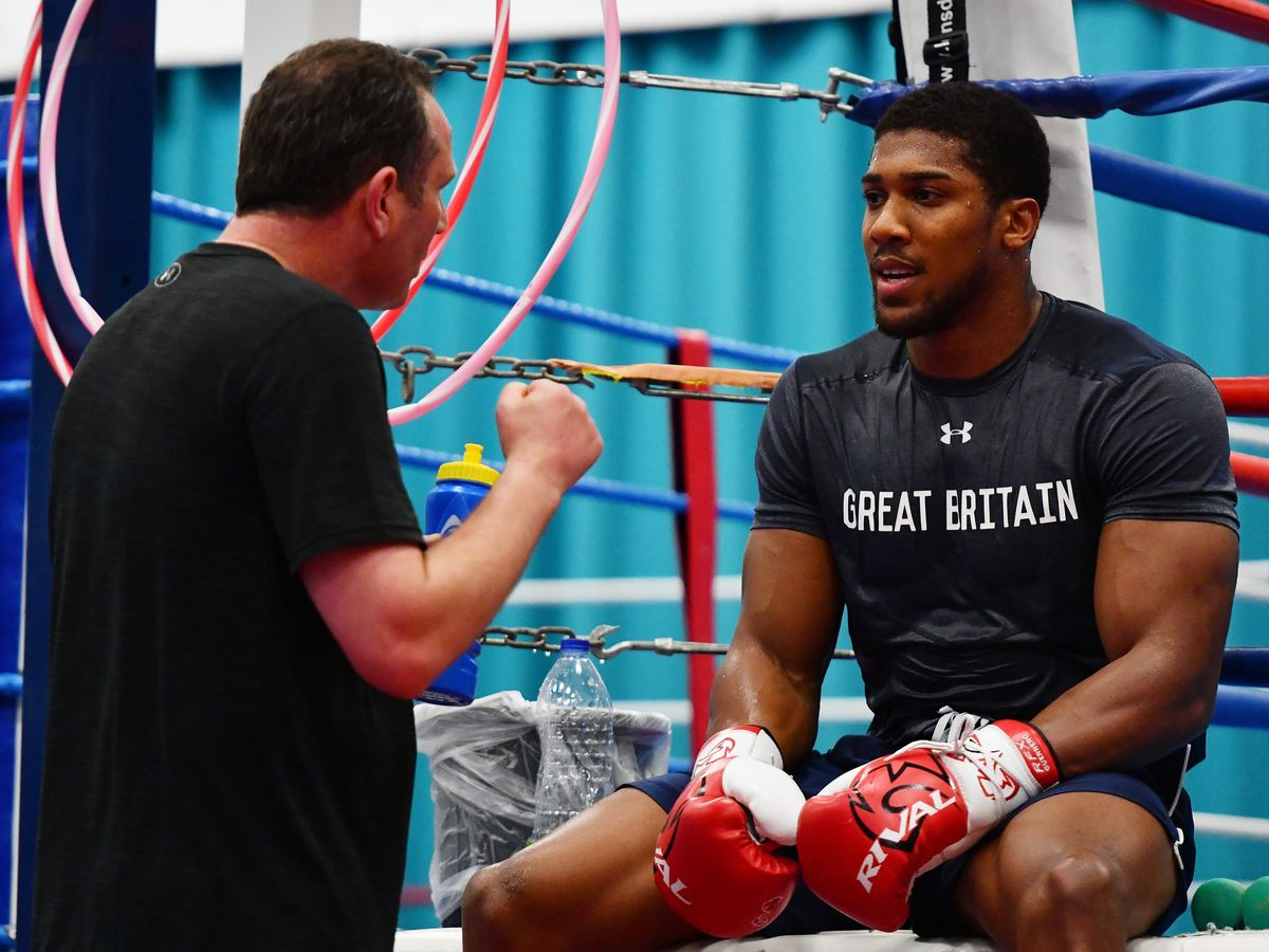 Image result for pictures of Anthony Joshua and McCracken