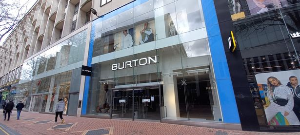 Party for a Burton: The New Street clothing store has been emptied.