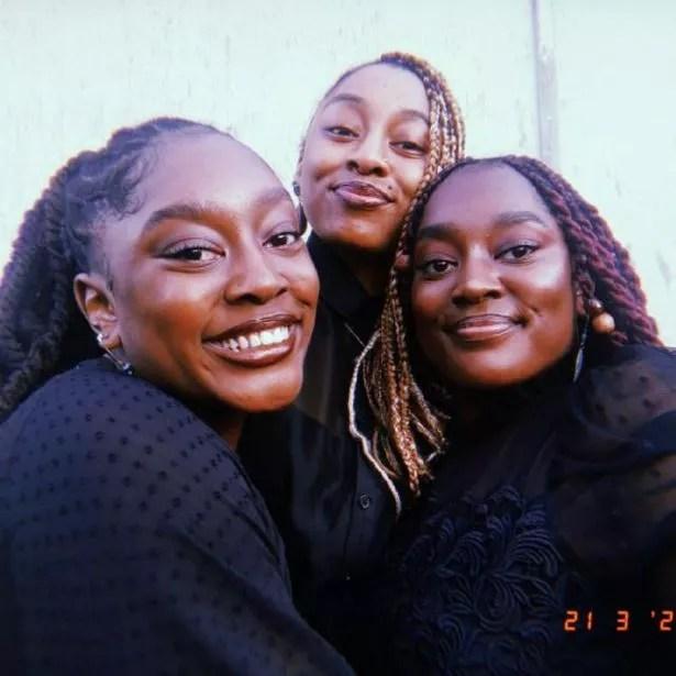 L to R twin Sanchia, younger sister Damaris and twin Eman Mowatt