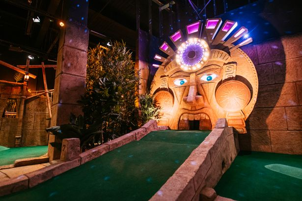 Treetop Adventure Golf inside the Bullring