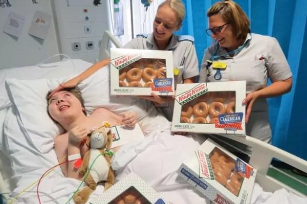 Grateful mum asked Krispy Kreme for doughnuts for Bristol ...