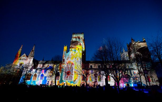 Durham Cathedral was first used as a backdrop to showcase artist Ross Ashton's light and sound show at the debut event in 2009