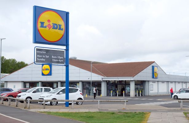 Lidl store at Brambles Farm in Middlesbrough, which reopened after being closed due to a coronavirus.