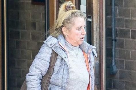 Linda Diane Cooper leaving Truro Magistrates' Court