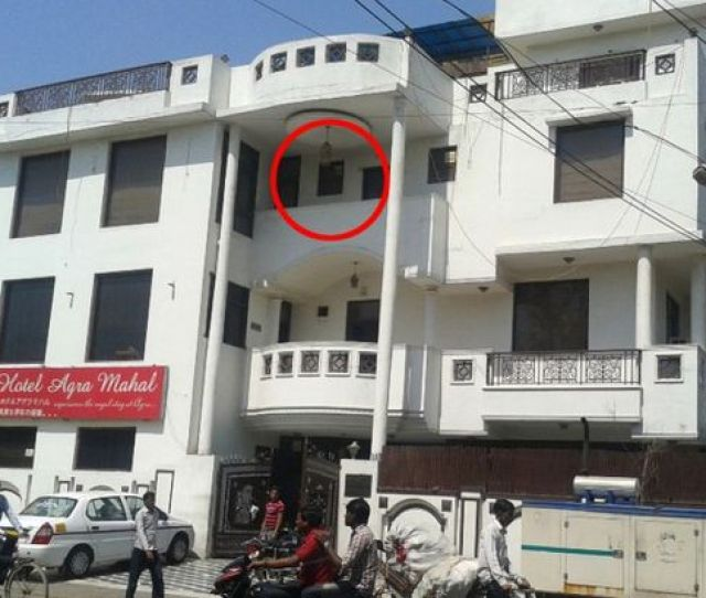 Ms Davies Jumped From The Window Of The Circled Balcony
