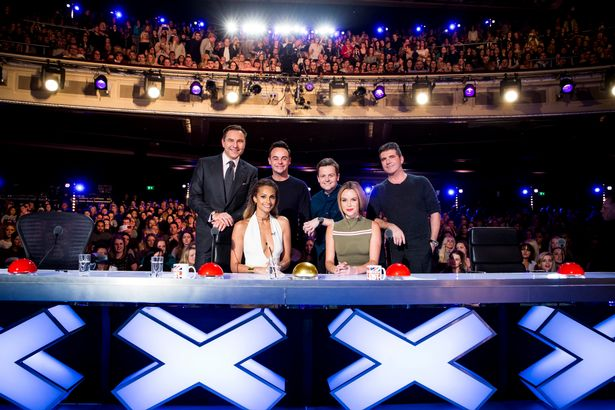Alesha with Ant and Dec and her fellow Britain's Got Talent judges